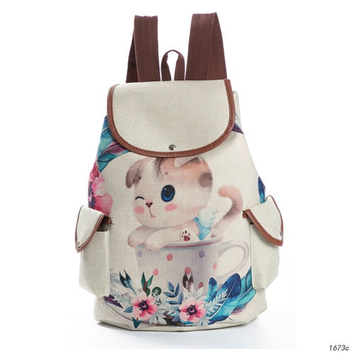 Miyahouse Casual Canvas School Backpack - SALEONE