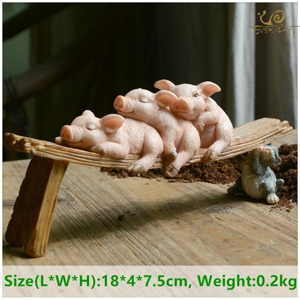 Miniature Figurines Decoration pig figure - SALEONE