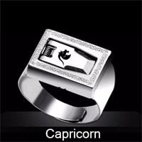 Stainless steel constellation safety ring - SALEONE