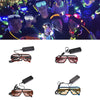 Flashing luminous LED glasses