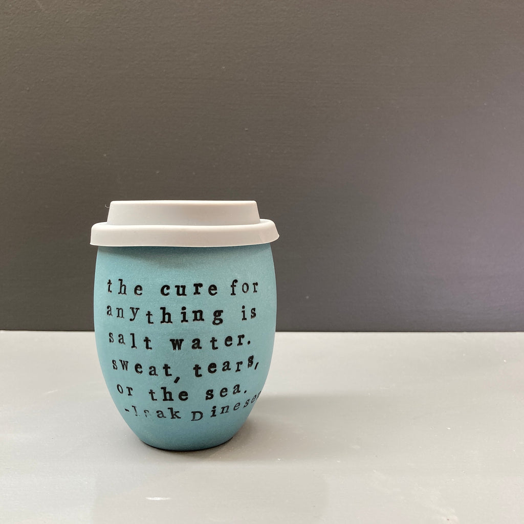 Ceramic Personalised Good Egg 250 mL Teal Keep Cup