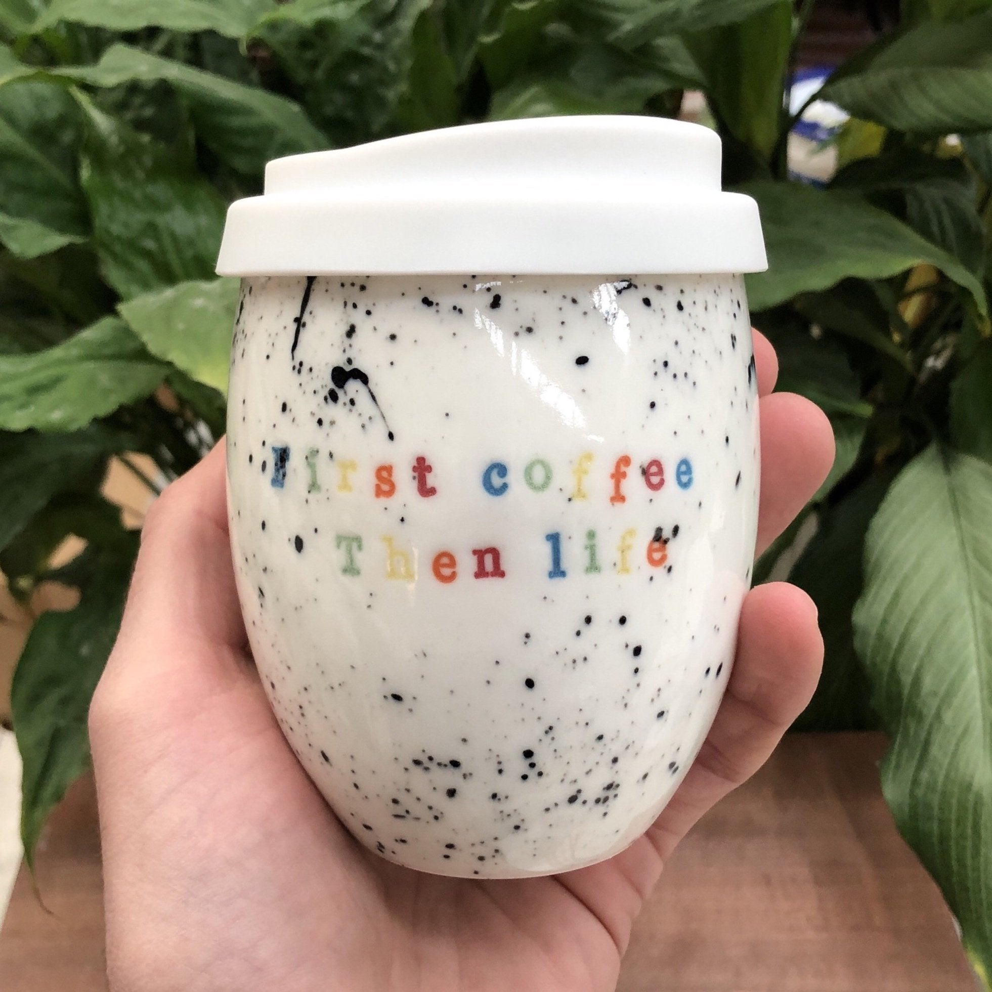 Ceramic Personalised Speckled Good Egg 250 mL Keep Cup