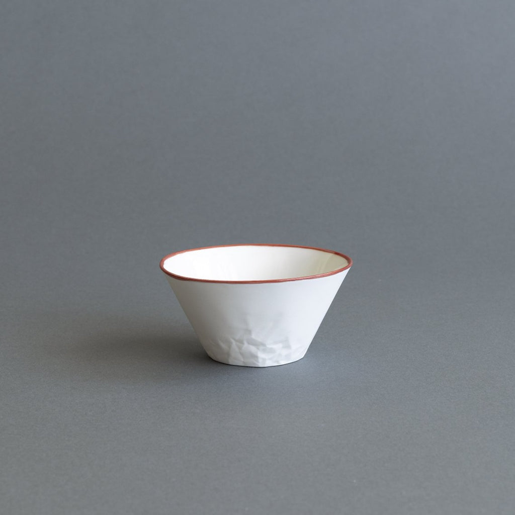 Red Ceramic Dessert/Breakfast Bowl - Paper