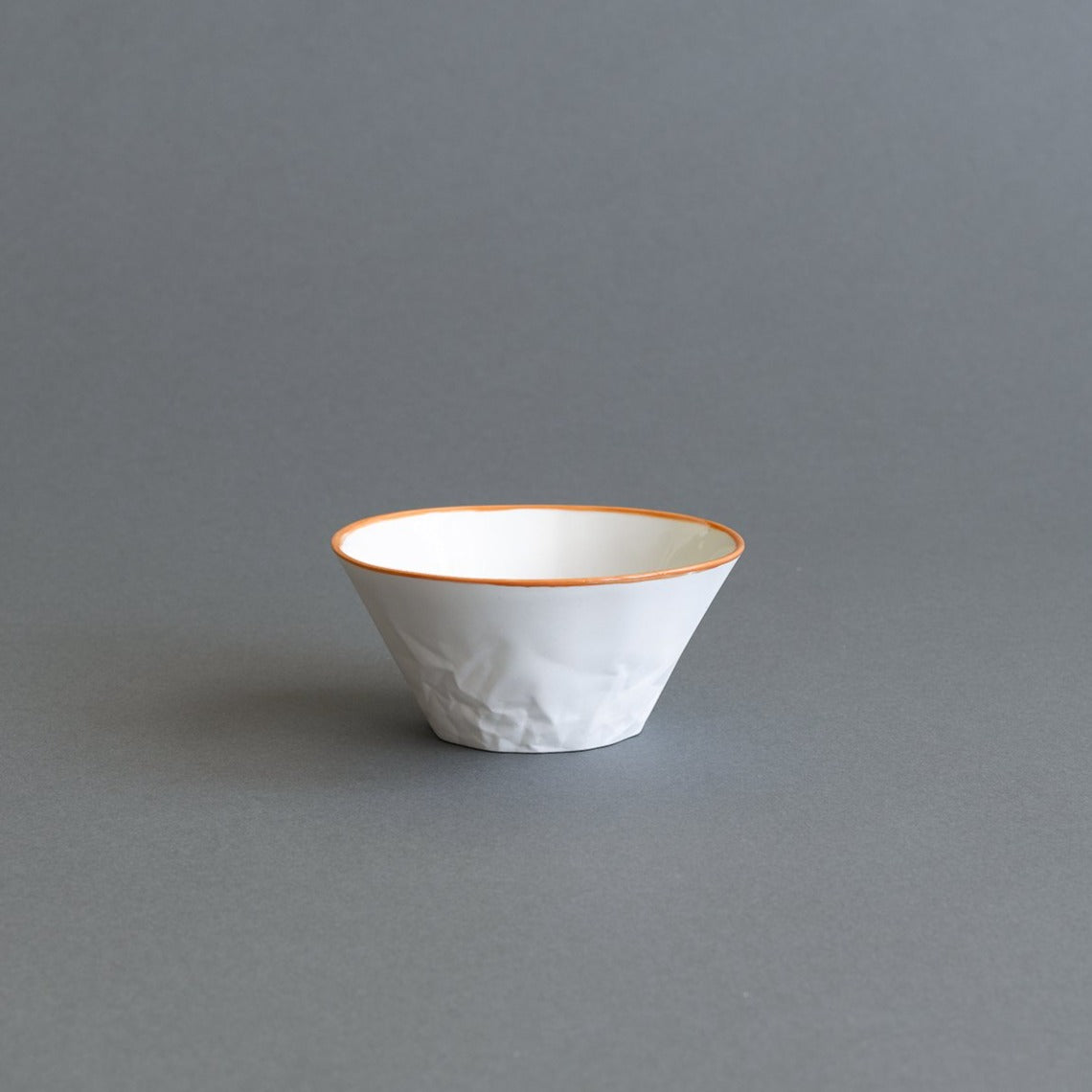 Orange Ceramic Dessert/Breakfast Bowl - Paper