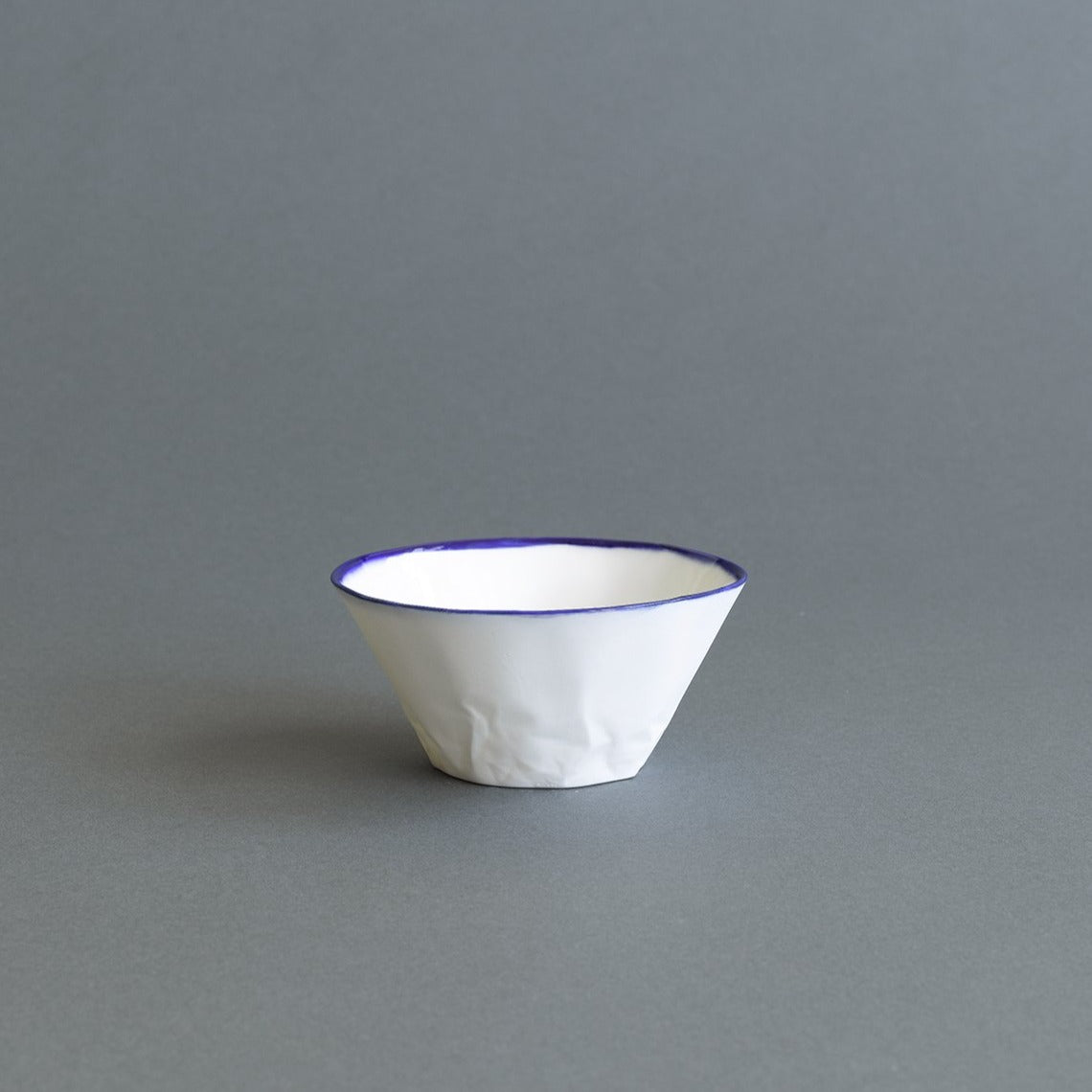 Deep Blue Ceramic Dessert/Breakfast Bowl - Paper