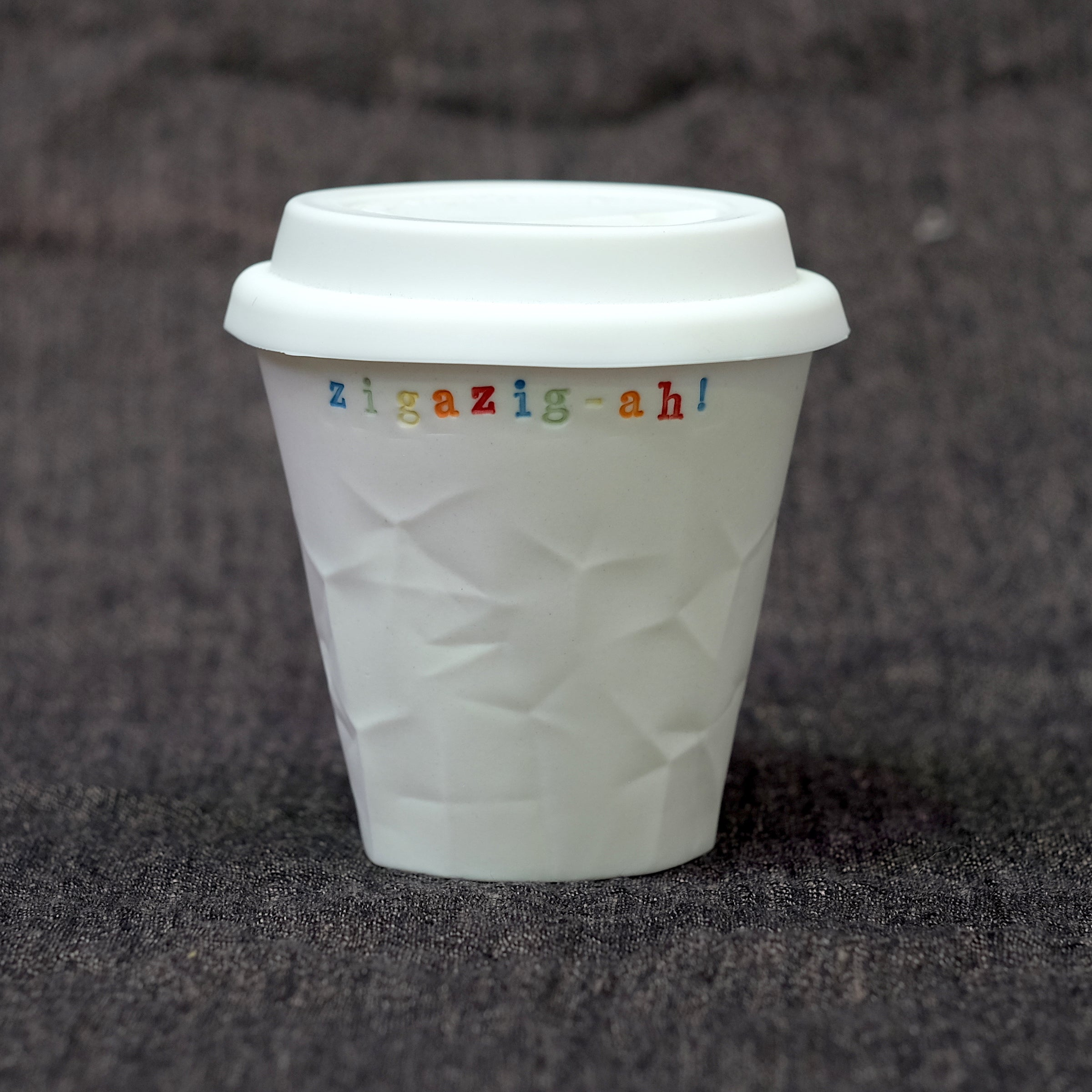 Ceramic Personalised Paper Series 250 mL Keep Cup with Rainbow Lettering