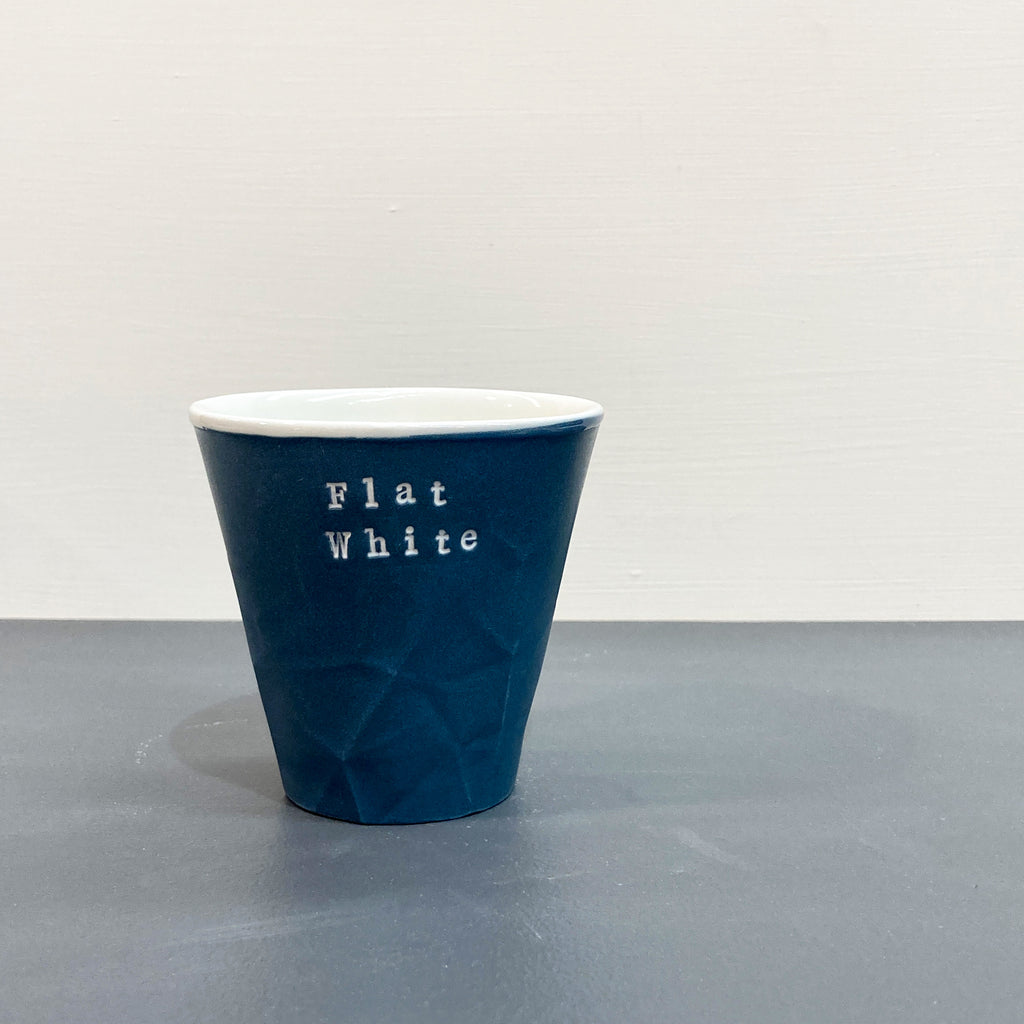 Blue Personalised Paper Series 250 mL Keep Cup