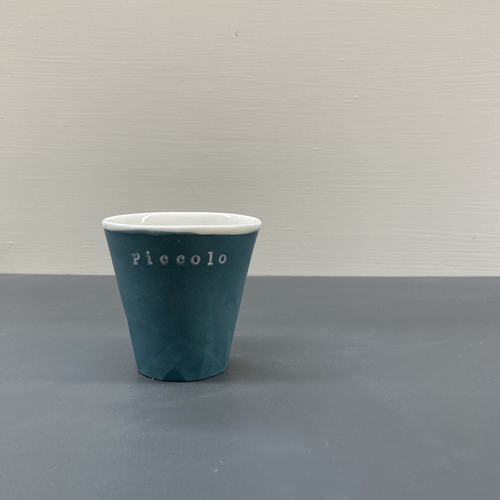 Teal Personalised Paper Series Piccolo Keep Cup | Hayden Youlley