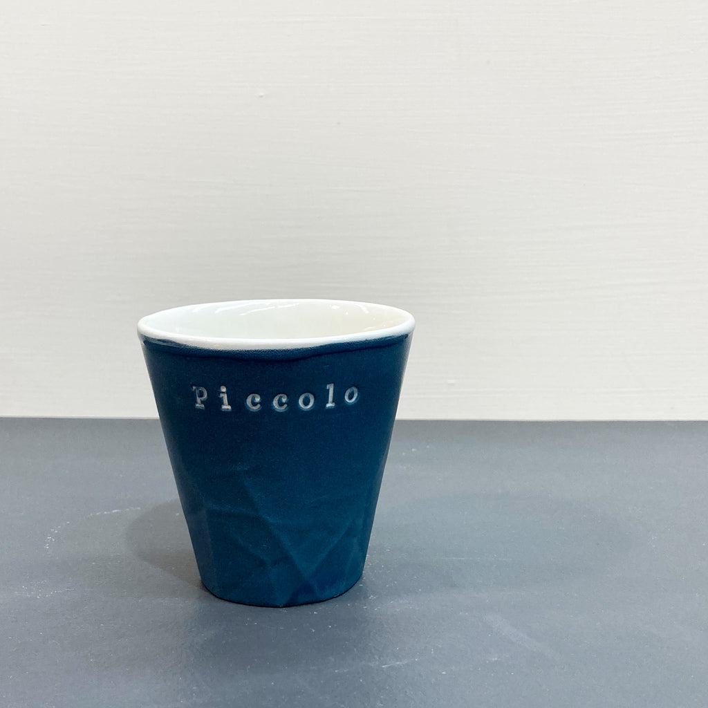 Blue Personalised Paper Series Piccolo Keep Cup | Hayden Youlley