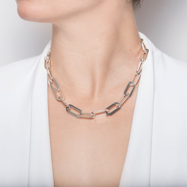 Necklace Silver Athens Link