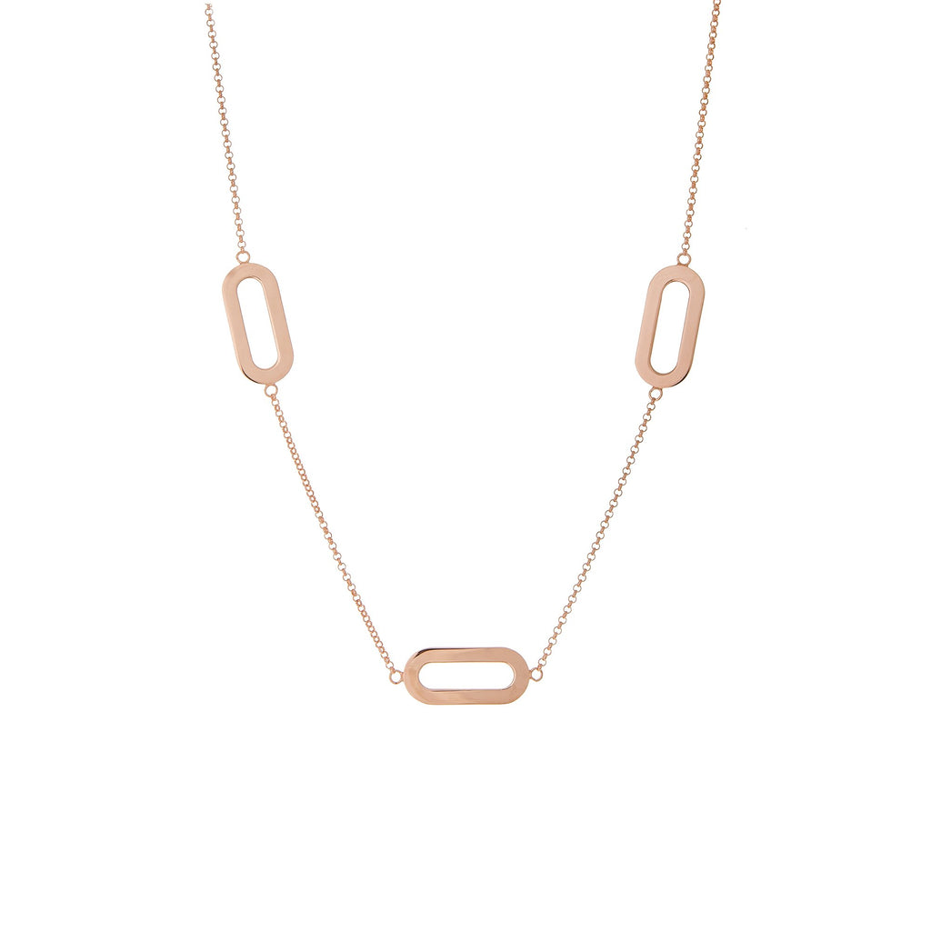 Necklace Triple Rose Gold Athens Link
