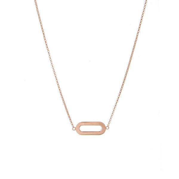Necklace Rose Gold Single Athens Link