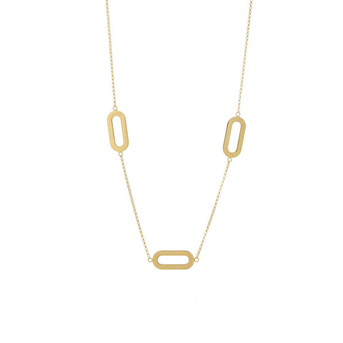 Necklace Yellow Gold Triple Athens Link