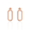 Earrings Single Rose Gold Athens Link