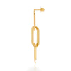Earrings Yellow Gold Triple Athens Link