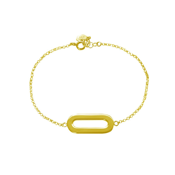 Bracelet Yellow Gold Single Athens Link
