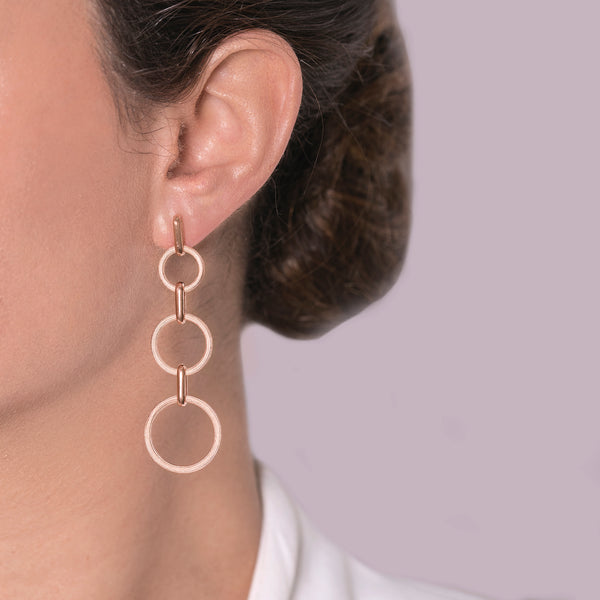 Earrings Triple Circle of Lif