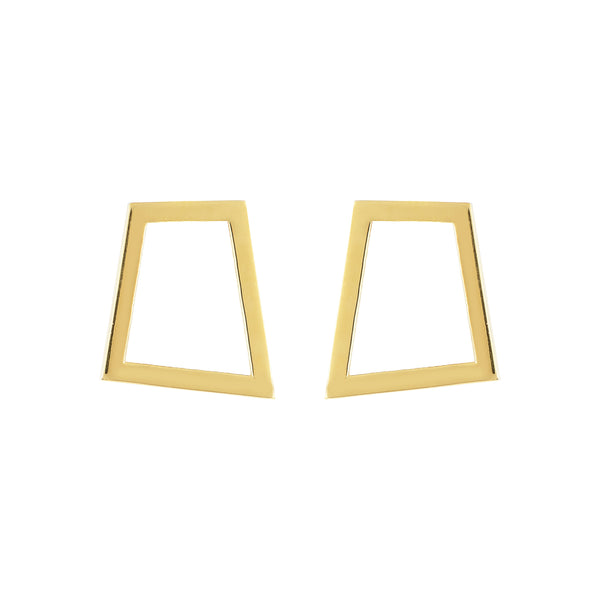Square Earrings Geometric Lines