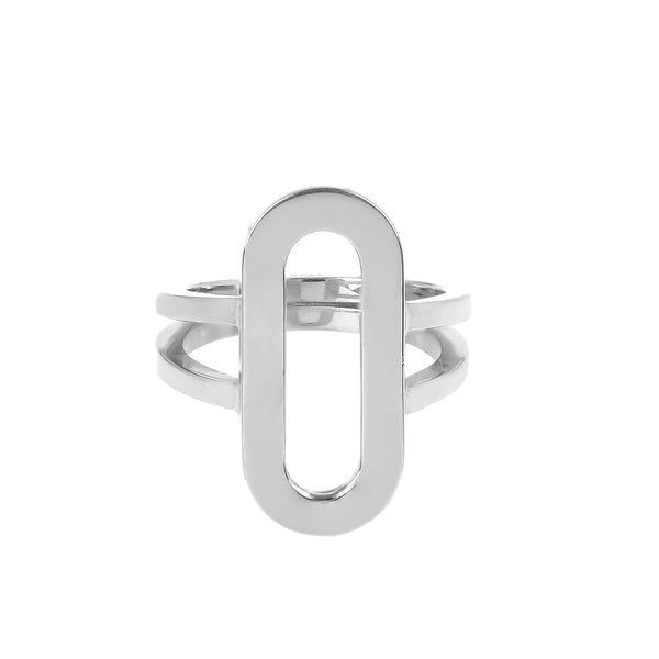 Ring Athens Link , Silver