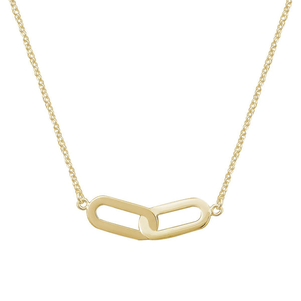 Necklace Yellow Gold Double Athens Link