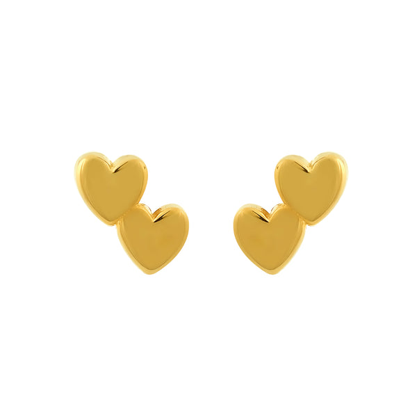 Earrings Double Heart