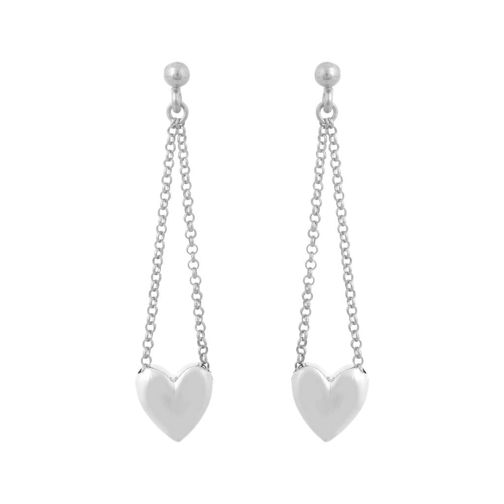 Earrings Chain Heart