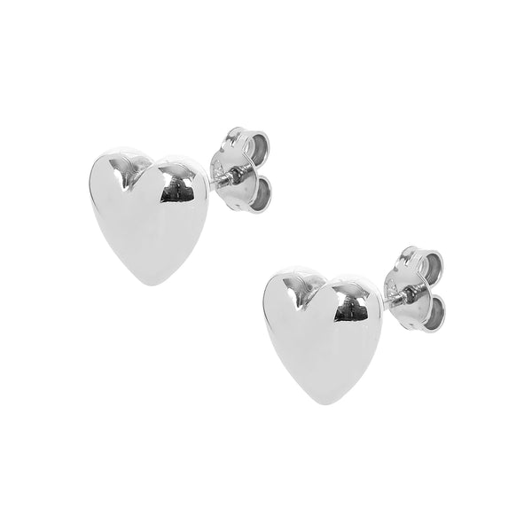 Earrings Single Silver Heart
