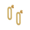 Earrings Yellow Gold Single Athens Link