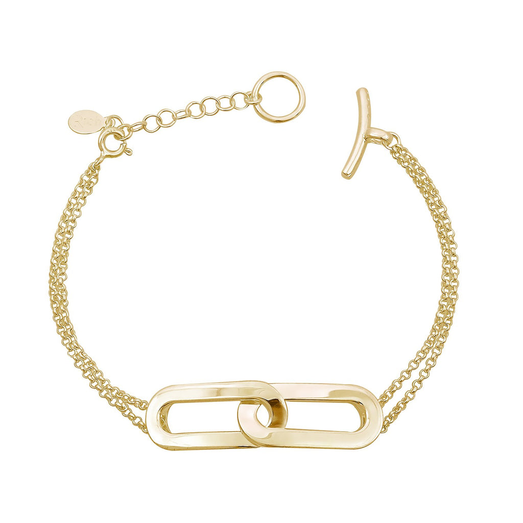 Bracelet Yellow Gold Double Athens Link