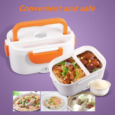 220V/110V Lunch Box Food Container Portable Electric Heating Food Warmer Heater Rice Container Dinnerware Sets for Home Dropship