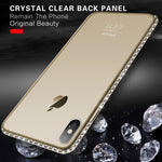 Moskado Phone Case For iPhone 7 X XR XS MAX 8 6 6s Plus 5 SE Fashion Bling Diamond Transparent Crystal Soft TPU Back Cover Cases