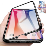 Magnetic Tempered Glass Case For iPhone