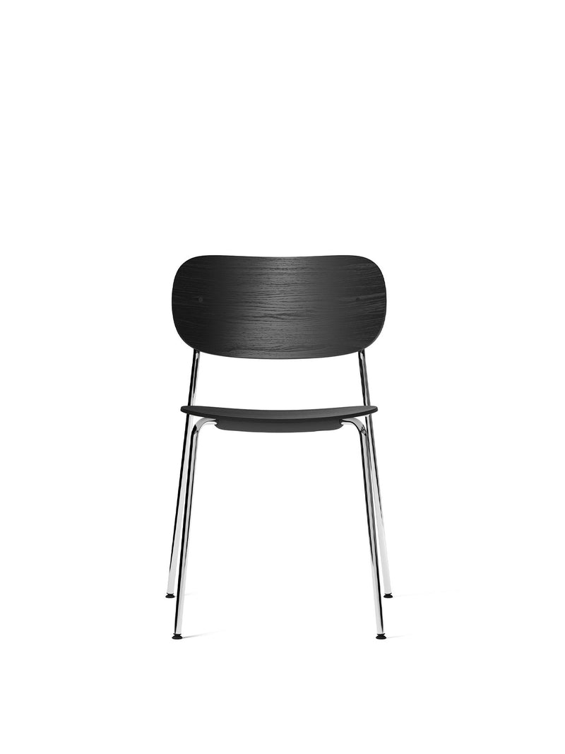Co Chair, Non-Upholstered-Chair-Norm Architects-Dining Height (Seat 17.7in H)/Chrome without Armrest-Black Oak-menu-minimalist-modern-danish-design-home-decor