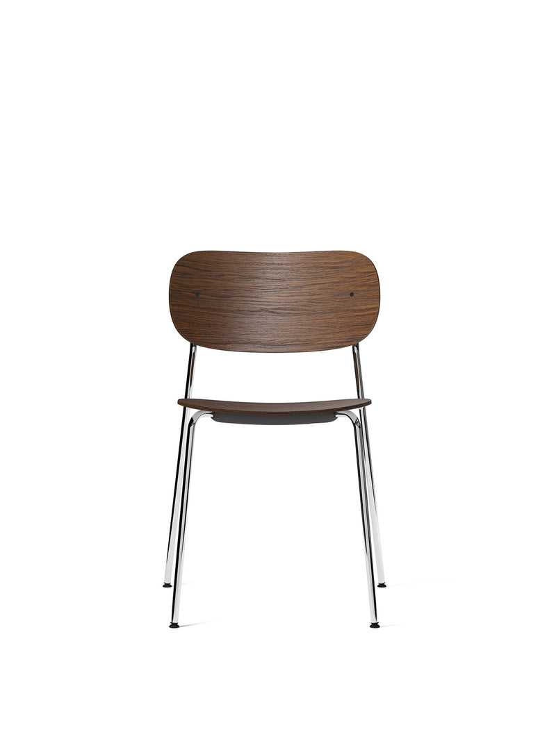 Co Chair, Non-Upholstered-Chair-Norm Architects-Dining Height (Seat 17.7in H)/Chrome without Armrest-Dark Stained Oak-menu-minimalist-modern-danish-design-home-decor