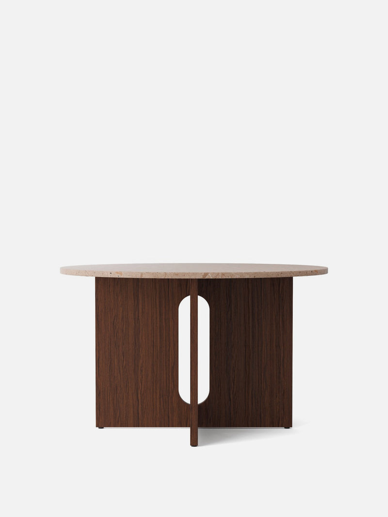 Androgyne Dining Table-Dining Table-Danielle Siggerud-Dining Height (47in)/Dark Stained Oak-Round - Sand Stone-menu-minimalist-modern-danish-design-home-decor