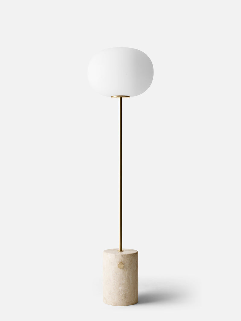 JWDA Floor Lamp-Floor Lamp-Jonas Wagell-Travertine/ Brushed Brass-menu-minimalist-modern-danish-design-home-decor