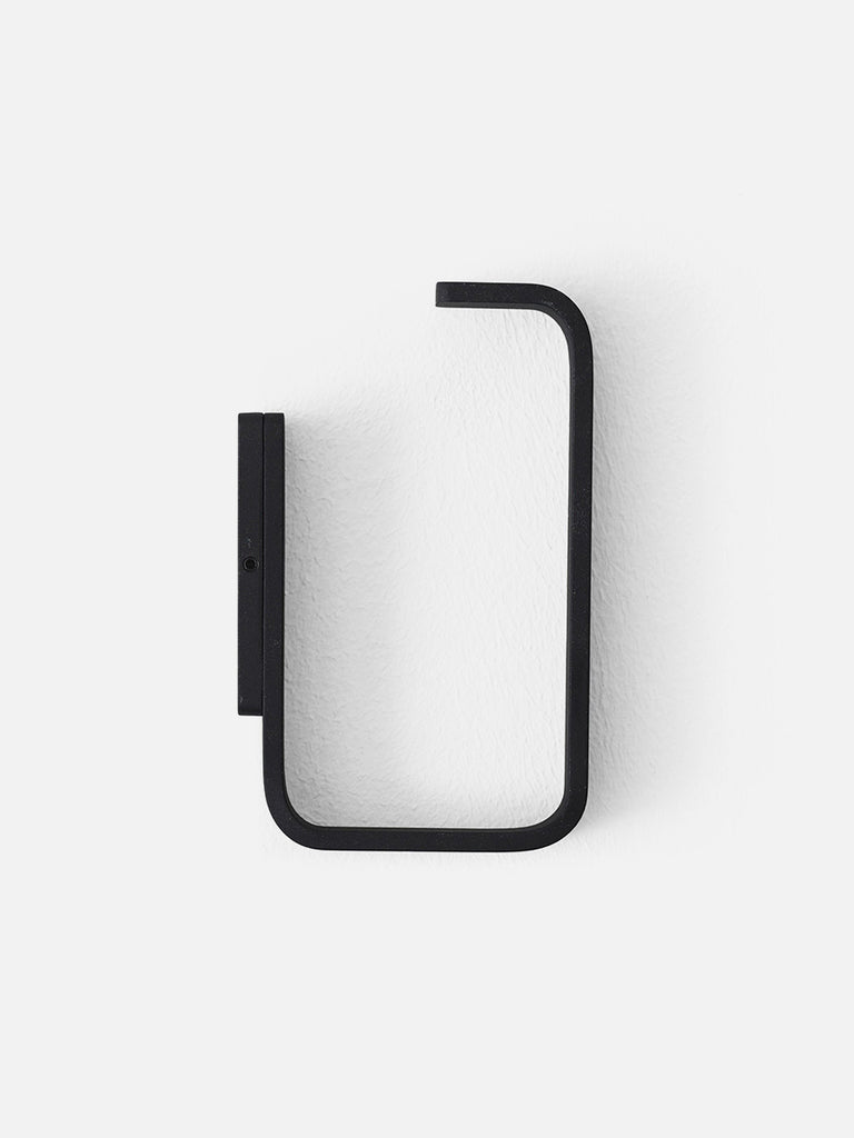Bath Toilet Roll Holder-Toilet Roll Holder-Norm Architects-Angular Edges-Powder Coated Black-menu-minimalist-modern-danish-design-home-decor