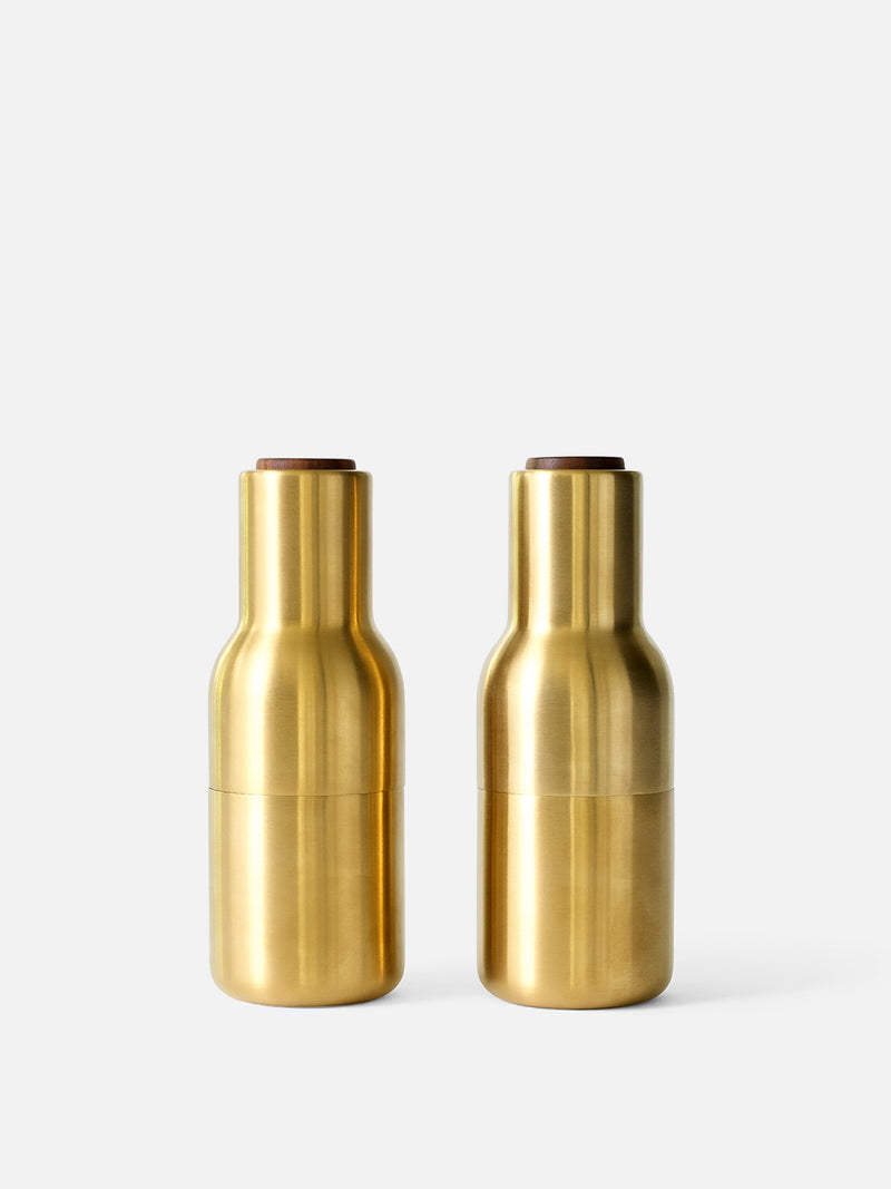 Bottle Grinder, Small, 2-Piece-Spice Mill-Norm Architects-Brushed Brass-menu-minimalist-modern-danish-design-home-decor