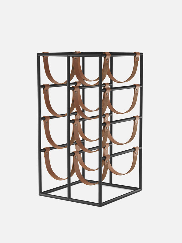 Umanoff Wine Rack-Wine Rack-Arthur Umanoff-Black Powder Coated Steel-menu-minimalist-modern-danish-design-home-decor