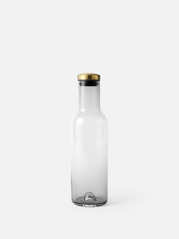 Bottle Carafe w/ Brass Lid