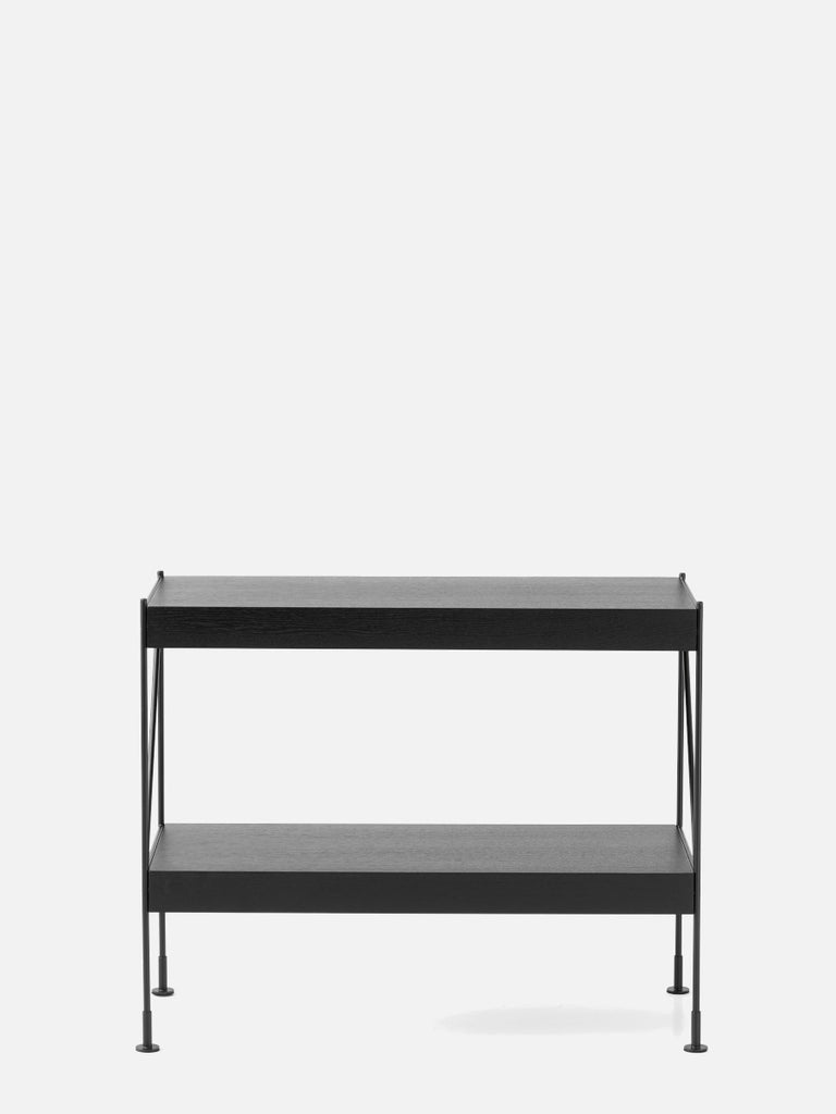 Zet Storage System, Black/Black-Shelving Unit-Kaschkasch Cologne-1x2-menu-minimalist-modern-danish-design-home-decor