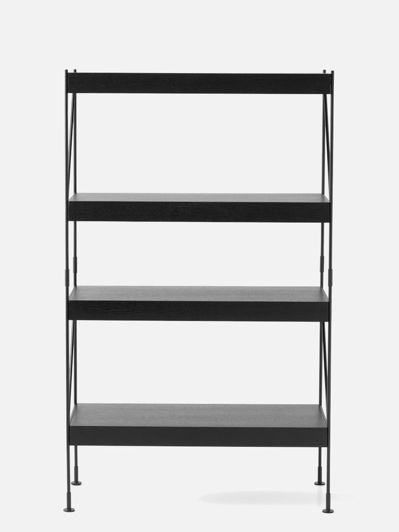 Zet Storage System, Black/Black-Shelving Unit-Kaschkasch Cologne-1x4-menu-minimalist-modern-danish-design-home-decor