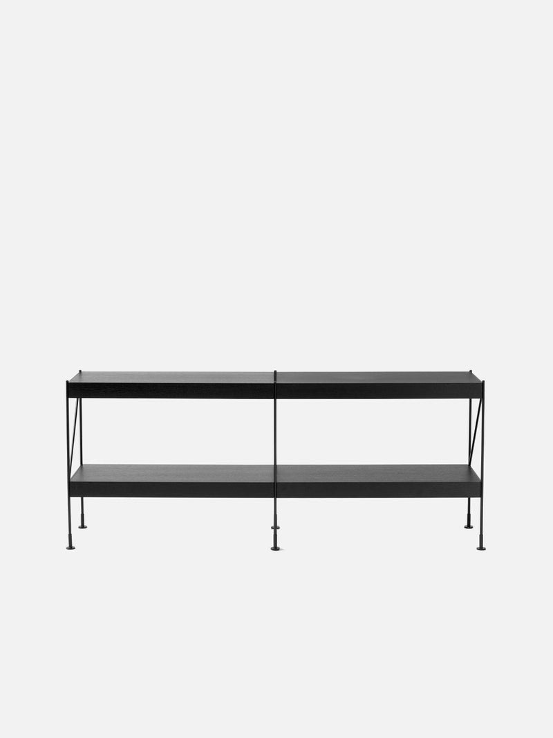 Zet Storage System, Black/Black-Shelving Unit-Kaschkasch Cologne-2x2-menu-minimalist-modern-danish-design-home-decor