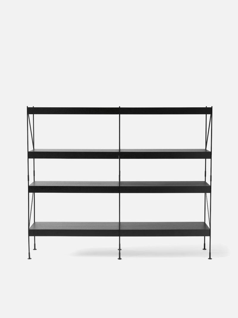 Zet Storage System, Black/Black-Shelving Unit-Kaschkasch Cologne-2x4-menu-minimalist-modern-danish-design-home-decor