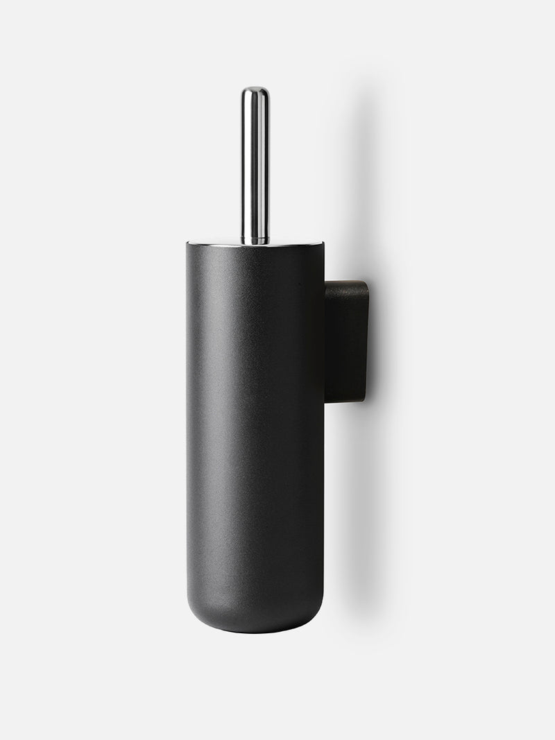 Bath Toilet Brush, Wall-Toilet Brush-Norm Architects-Powder Coated Black-menu-minimalist-modern-danish-design-home-decor