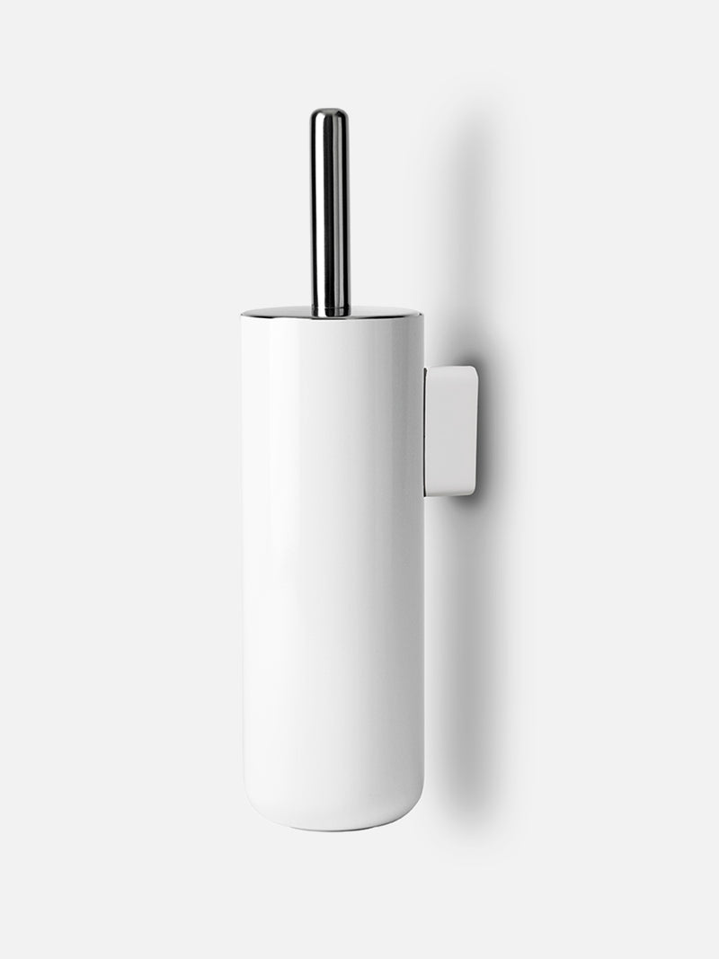 Bath Toilet Brush, Wall-Toilet Brush-Norm Architects-Powder Coated White-menu-minimalist-modern-danish-design-home-decor