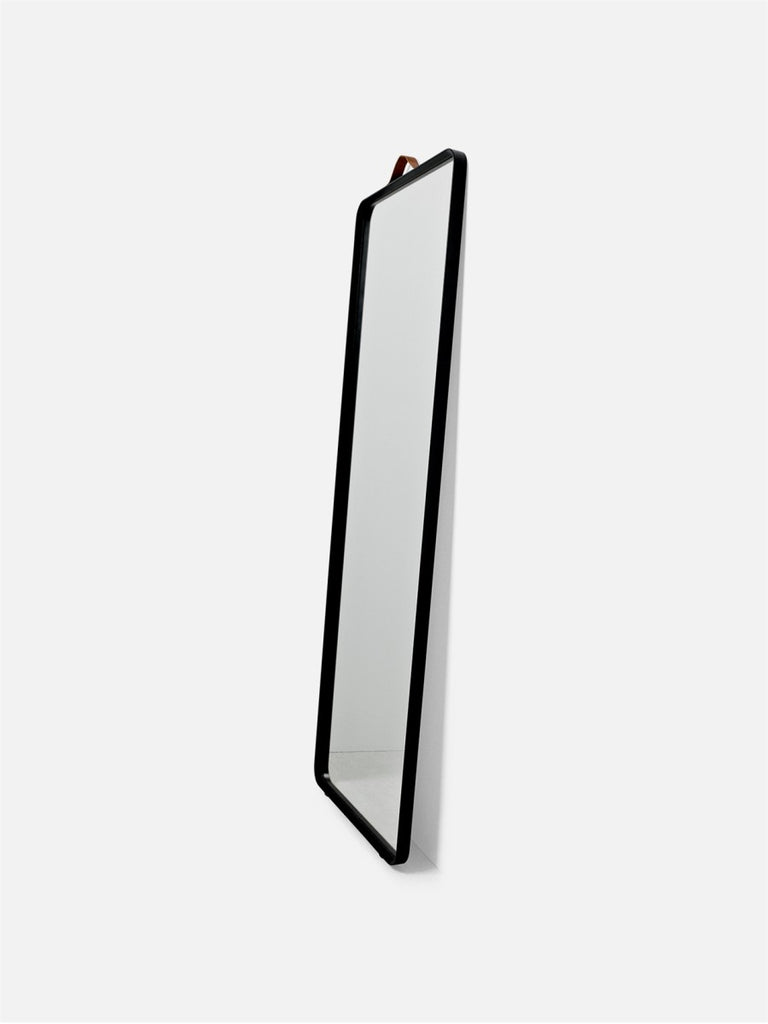 Bath Floor Mirror, Rectangular-Floor Mirror-Norm Architects-Powder Coated Black-menu-minimalist-modern-danish-design-home-decor