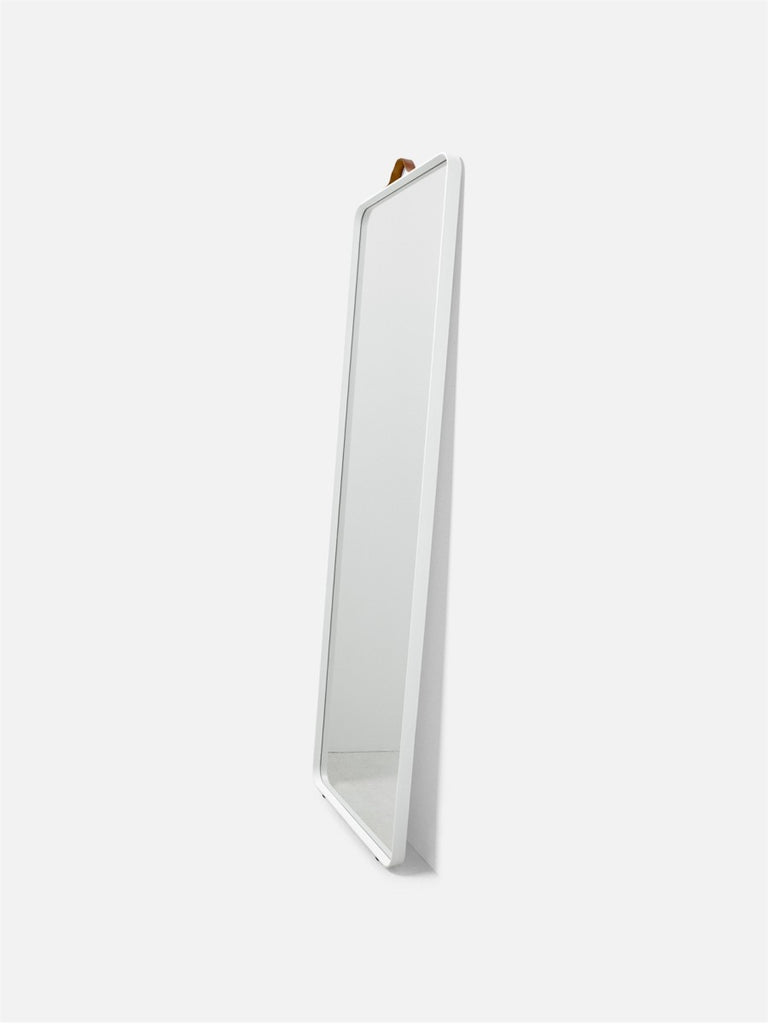 Bath Floor Mirror, Rectangular-Floor Mirror-Norm Architects-Powder Coated White-menu-minimalist-modern-danish-design-home-decor
