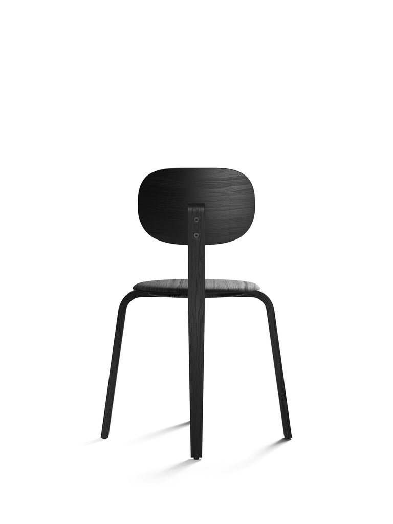 Afteroom Plus, Wooden Base Dining Chair-Chair-Afteroom Studio-Dining Height (Seat 17.7in H)-Black Oak Painted Veneer-menu-minimalist-modern-danish-design-home-decor