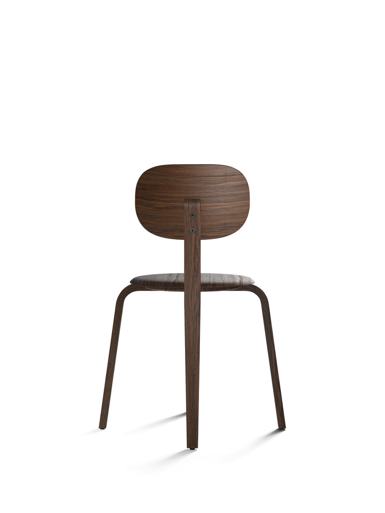 Afteroom Plus, Wooden Base Dining Chair-Chair-Afteroom Studio-Dining Height (Seat 17.7in H)-Dark Stained Oak-menu-minimalist-modern-danish-design-home-decor